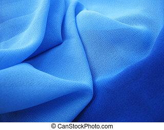 blue chiffon - folds of blue chiffon fabric, texture,...