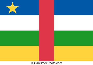 Central African Republic flag. National current flag,...