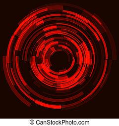 Futuristic abstract background; circular dynamic modern...