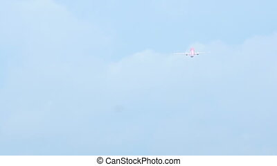 Airplane taking off from Phuket Airport - Airplane take off...
