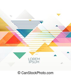 abstract colorful background made with triangles in memphis...