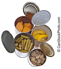 Group of Preserved Canned Vegetables