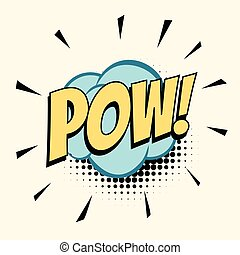 pow comic word. Pop art retro vector illustration