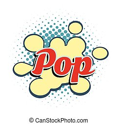 word pop comic style. retro vector illustration