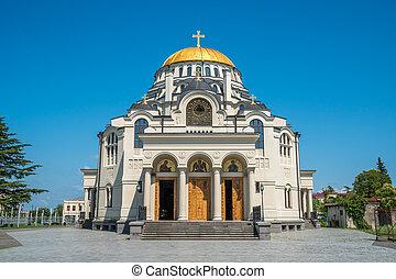 cathédrale, ville, Géorgie,  poti, église