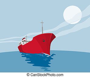 commercial tanker - illustration of a commercial tanker