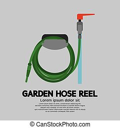 Garden Hose Reel Vector Illustration