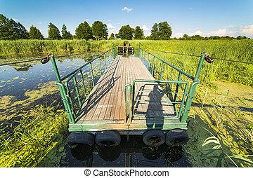 Raft in Narew National Park - Narew National Park in Poland