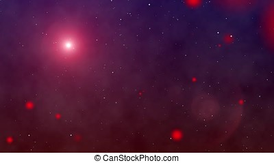 Space background particles stars - Flying through a star...