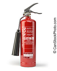 Fire extinguisher isolated on white background. 3d...