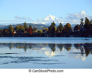 Mt. Hood and blue lake park, Oregon