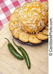 Savory Cheeseball Appetizer in a Kitchen Scene.