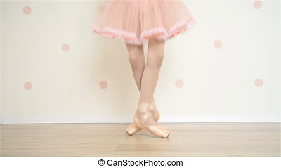 Ballerina In Pointe Shoes - Young Ballerina In Pointe Shoes...
