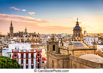 Seville, Spain Skyline - Seville, Spain skyline in the Old...