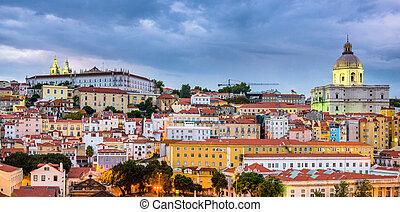 Lisbon, Portugal Alfama - Lisbon, Portugal twilight...