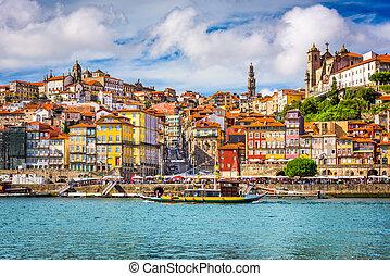 Porto, Portugal Skyline - Porto, Portugal old town skyline...