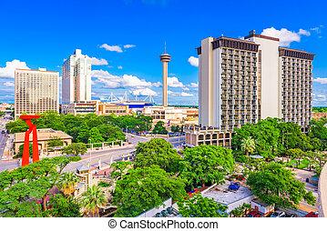 San Antonio, Texas, USA Skyline - San Antonio, Texas, USA...
