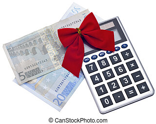 Holiday Season Budget Concept Image with Euro Currency...