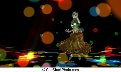 Digital 3D Animation of a dancing Girl