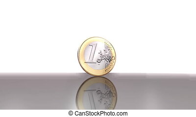 Digital 3D Animation of an Euro Coin