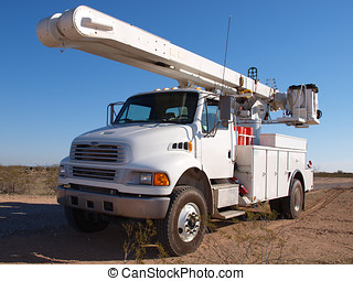 Big Utility Truck - A large utility truck sitting in the...
