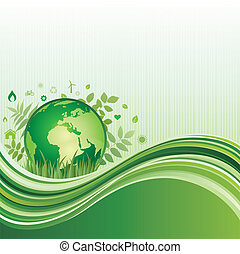 green environment background - vector background of...