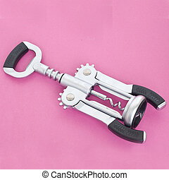Cork Screw - Wine Cork Screw on a Modern Vibrant Background.