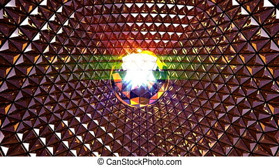 Disco Ball Blinking Background - 4K UHD disco ball blinking...