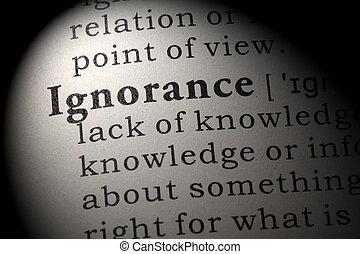definición, ignorancia