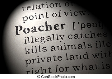 definition of poacher - Fake Dictionary, Dictionary...