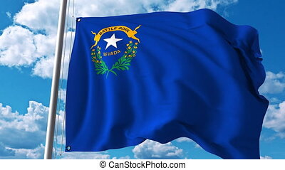 Waving flag of Nevada. 4K clip - Waving flag of Nevada. 4K...