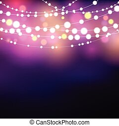 String lights background - Decorative background with...