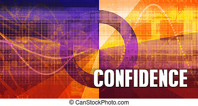 Confidence Focus Concept on a Futuristic Abstract Background