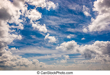 dramatic sky with dynamic cloud arrangement. cloudy weather...