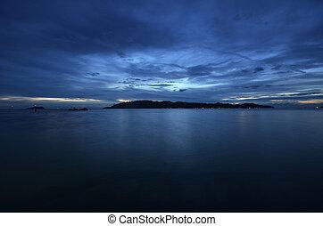 Sunset view in Kota Kinabalu, Sabah, Malaysia