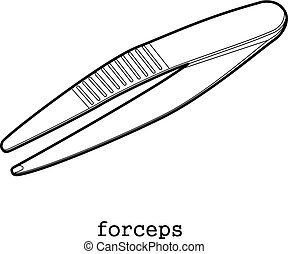 Surgical forceps icon outline - Surgical forceps icon in...