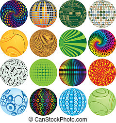 Colorful Balls - Sixteen Colorful Balls to add to your...
