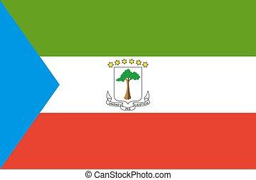 Equatorial Guinea flag. National current flag, government...