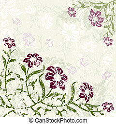 Floral Background with grunge