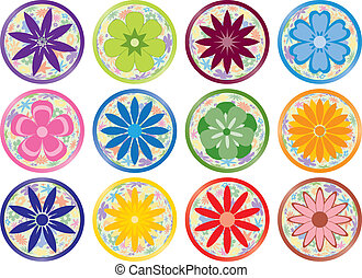 Flower Buttons or Icons