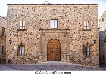 Archbishop Palace Building, Caceres. Spain, Extremadura