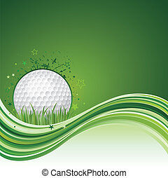golf background - vector illustration of golf sport