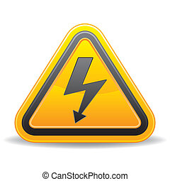 vector voltage sign on white background