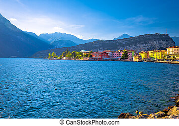 Lago di Garba town of Torbole view