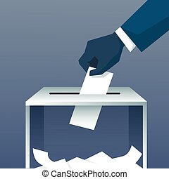 Hand Putting Paper In Ballot Box During Voting