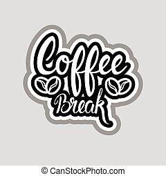 Coffee Break Sticker Social Media Network Message Badges...