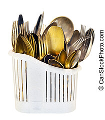 Old gold and silver flatware