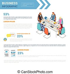 Business Infographics Set With Copy Space For Presentation...