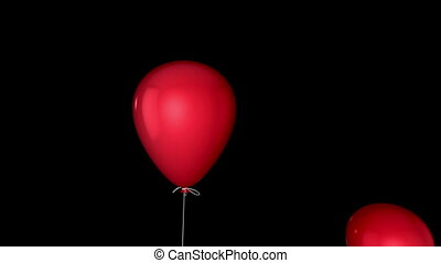 Flying balloon transition with alph - Transition effect of...