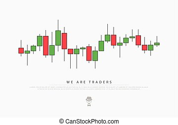 traders - abstract background with japanese candles pattern....
